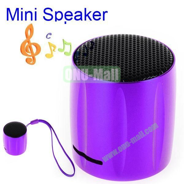 KOLEE Line-in Style Mini Speaker with Lanyard for PC Mobile Phone MP3 MP4 PSP (Purple)