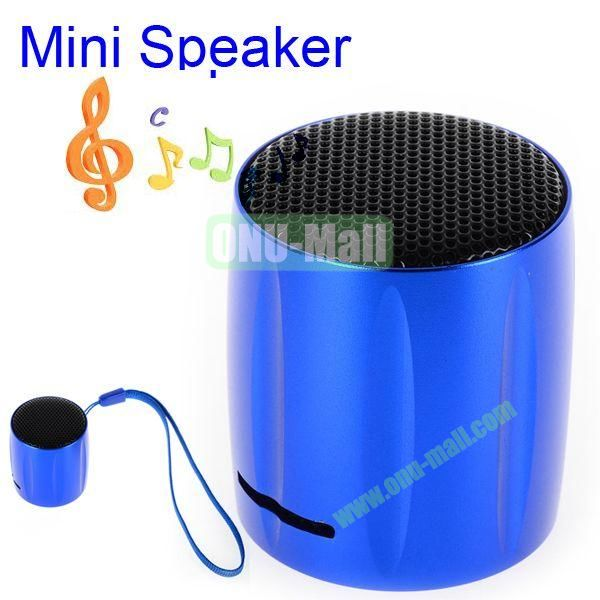 KOLEE Line-in Style Mini Speaker with Lanyard for PC Mobile Phone MP3 MP4 PSP (Blue)