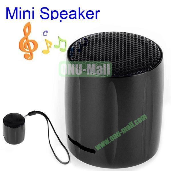 KOLEE Line-in Style Mini Speaker with Lanyard for PC Mobile Phone MP3 MP4 PSP (Black)