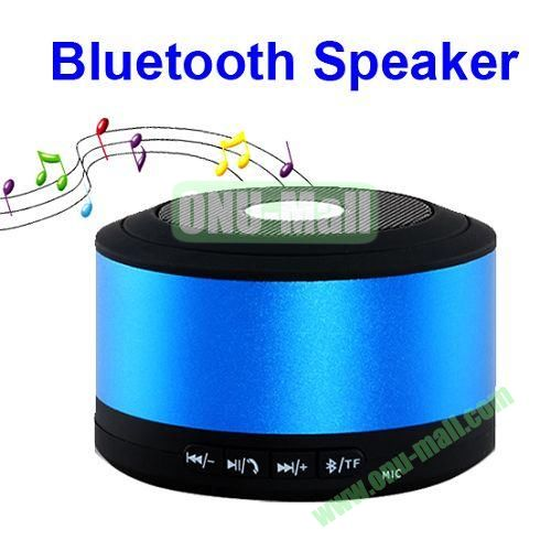 My Visison Aluminum Brush Texture Mini Bluetooth Speaker with Hands-free Call and TF Card Port (Blue)