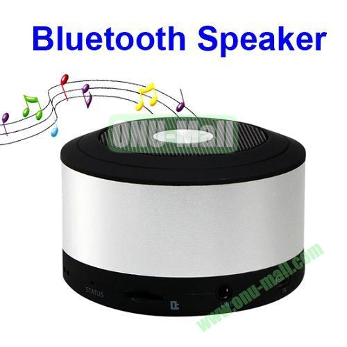 My Visison Aluminum Brush Texture Mini Bluetooth Speaker with Hands-free Call and TF Card Port (White)