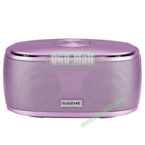 Portable Mini Waterproof Bluetooth Speaker With USB Cable (Purple)
