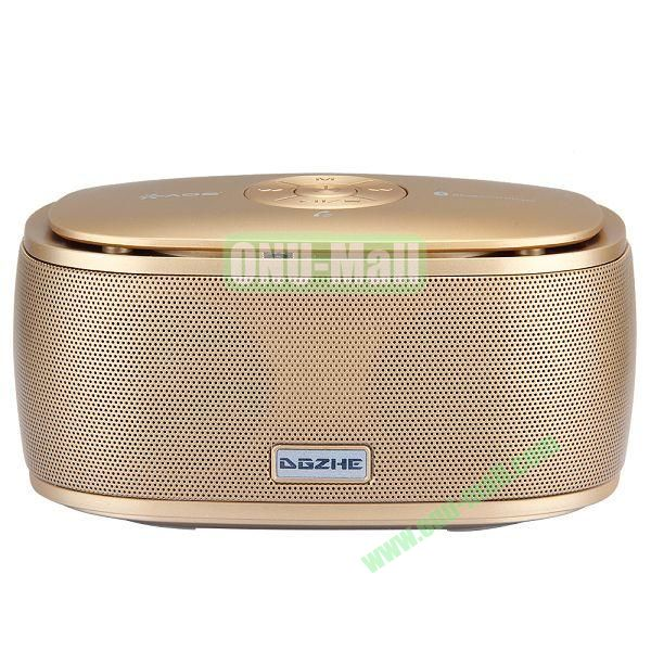 Portable Mini Waterproof Bluetooth Speaker With USB Cable (Gold)