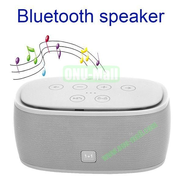 3D Wireless Bluetooth Stereo Incredible Smart Speaker with NFC 1+1 Bluetooth 4.0 (White)
