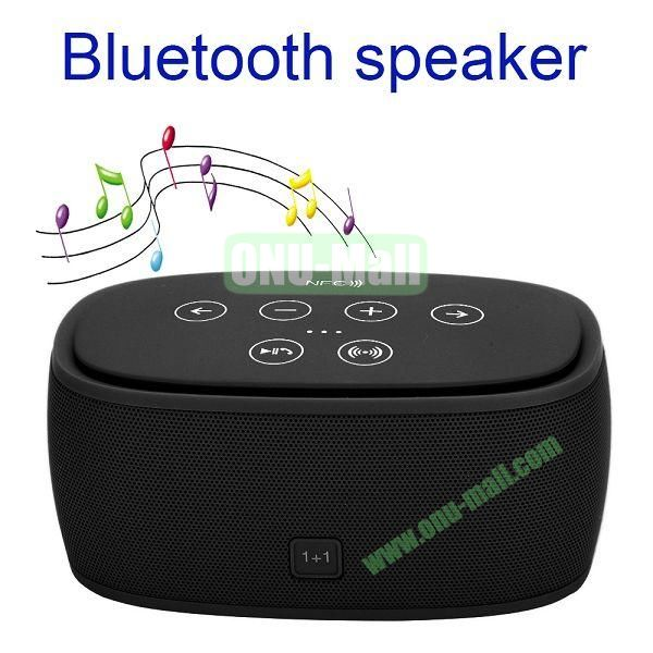 3D Wireless Bluetooth Stereo Incredible Smart Speaker with NFC 1+1 Bluetooth 4.0 (Black)