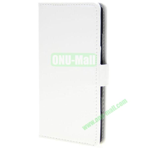 Crazy Horse Texture Wallet Pattern Leather Case for Nokia Icon 929 with Card Slots (White)