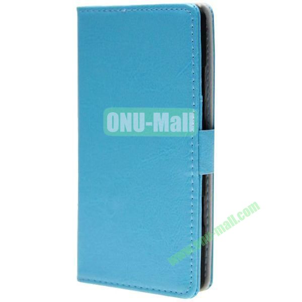 Crazy Horse Texture Wallet Pattern Leather Case for Nokia Icon 929 with Card Slots (Blue)