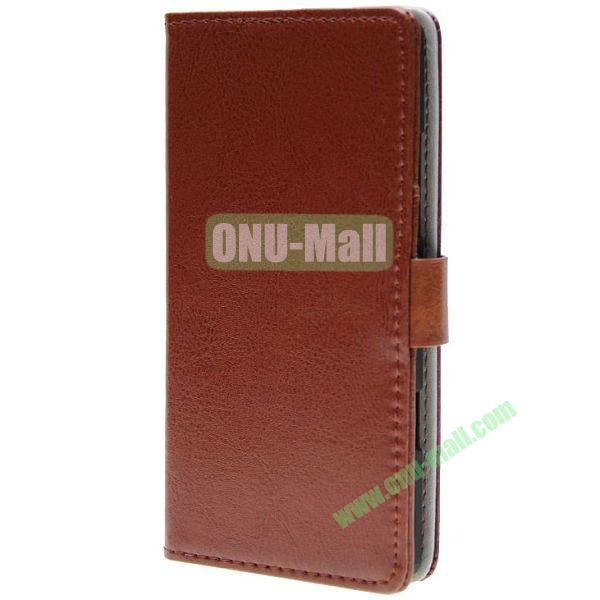 Crazy Horse Texture Wallet Pattern Leather Case for Nokia Icon 929 with Card Slots (Brown)