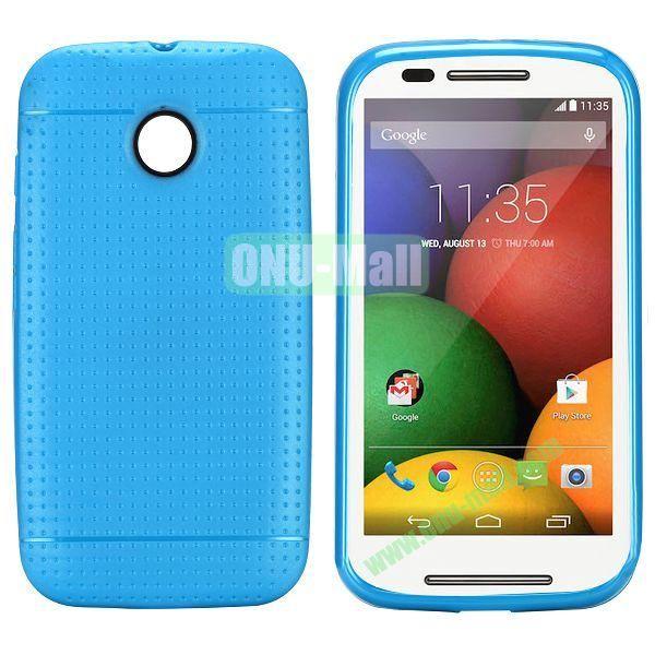 Mesh Design Durable TPU Case for Motorola Moto E XT1021 XT1022 (Blue)