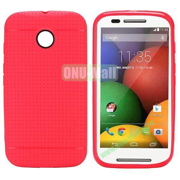Mesh Design Durable TPU Case for Motorola Moto E XT1021 XT1022 (Rose)