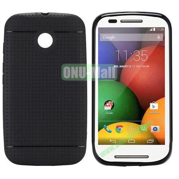 Mesh Design Durable TPU Case for Motorola Moto E XT1021 XT1022 (Black)