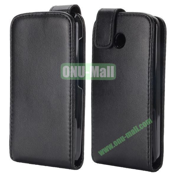 Vertical Magnetic Flip PU Leather Case for Motorola Moto E XT1021 XT1022 XT 1025 (Black)