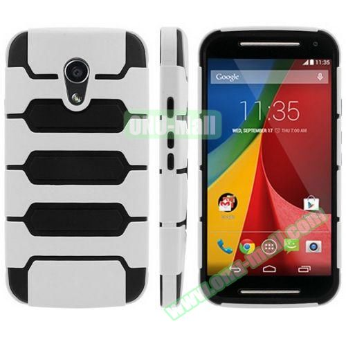 Tank Series PC + TPU Bumper Combination Case for Motorola MOTO G (White)