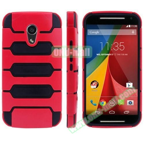 Tank Series PC + TPU Bumper Combination Case for Motorola MOTO G (Red)