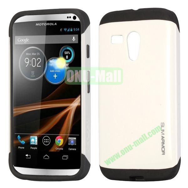 Detachable TPU + PC Back Hard Case for Motorola X  XT1058  XT1055  XT1053 (White)