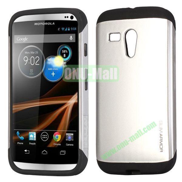 Detachable TPU + PC Back Hard Case for Motorola X  XT1058  XT1055  XT1053 (Sliver)