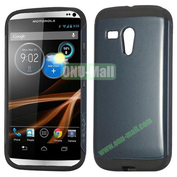 Detachable TPU + PC Back Hard Case for Motorola X  XT1058  XT1055  XT1053 (Dark Blue)