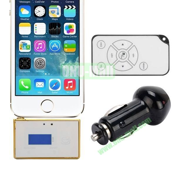 F180A 3 in 1 Car FM Transmitter Car Hands Free Car Charger With Remote Controller