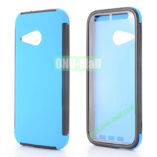 2 in 1 Detachable Oil Coated TPU + PC Hybrid Back Case for HTC One mini 2 M8 mini (Blue)