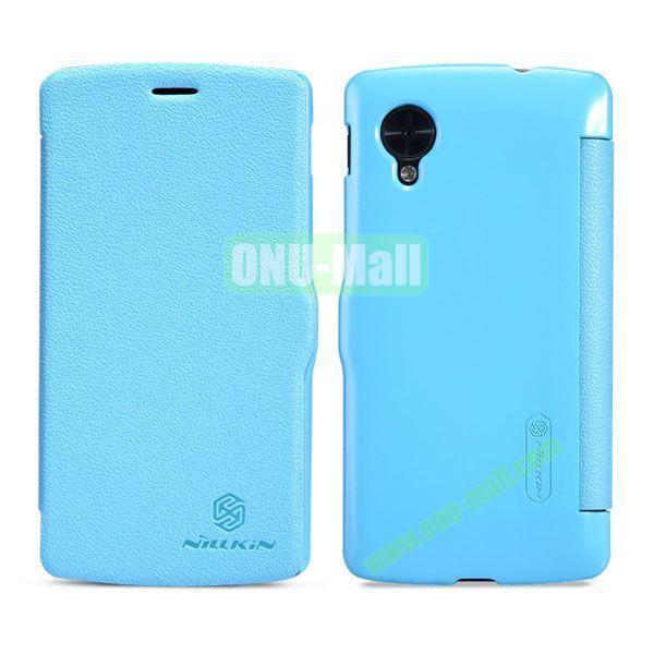 Nillkin Fresh Series Ultrathin Flip Leather Case for LG Nexus 5 D820 (Blue)