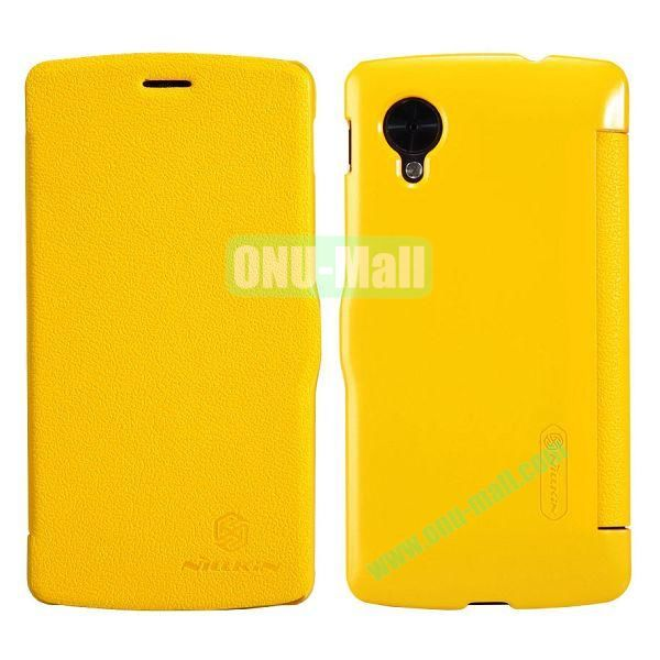 Nillkin Fresh Series Ultrathin Flip Leather Case for LG Nexus 5 D820 (Yellow)