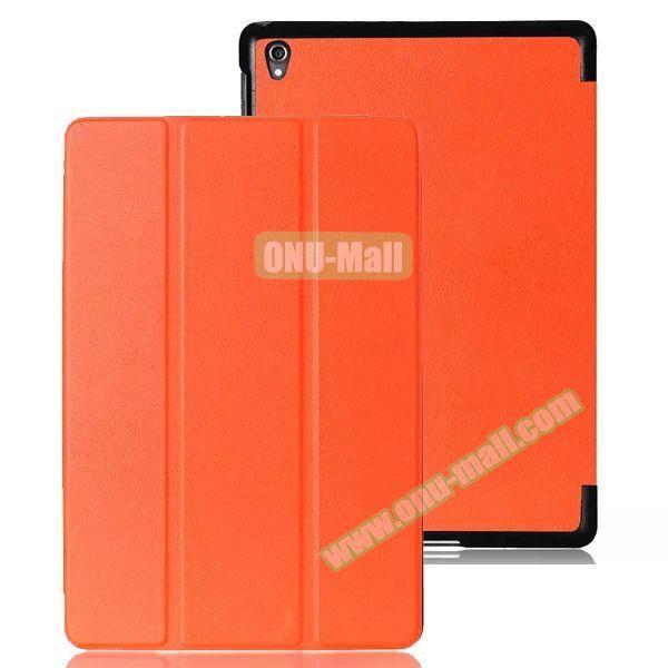 Karst Texture 3 Folding Leather Case for Google Nexus 9 (Orange)