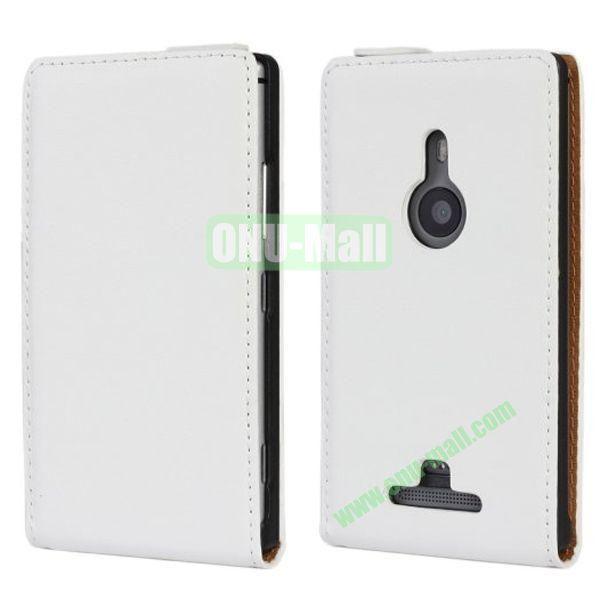 Vertical Flip Leather Case for Nokia Lumia 925 (White)