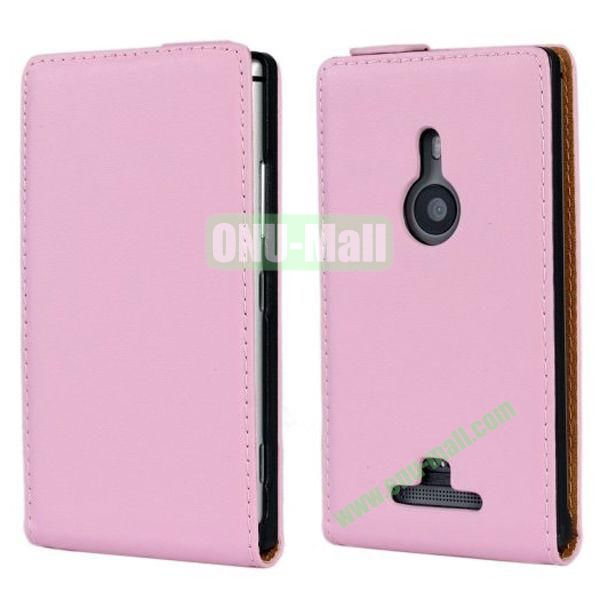 Vertical Flip Leather Case for Nokia Lumia 925 (Pink)