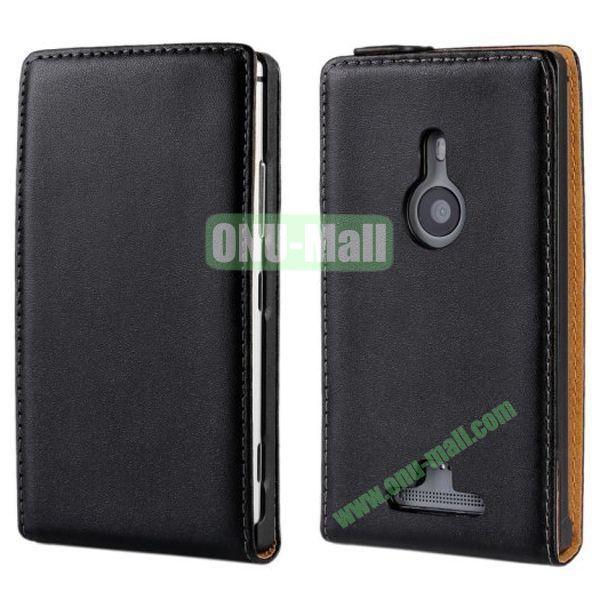 Vertical Flip Leather Case for Nokia Lumia 925 (Black)