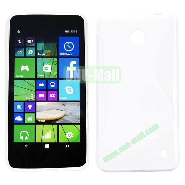 S Shape TPU Case for Nokia Lumia 630 (White)
