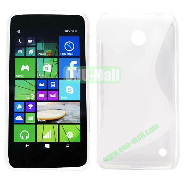 S Shape TPU Case for Nokia Lumia 630 (Transparent)