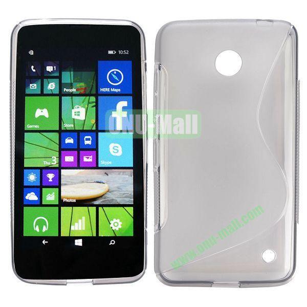 S Shape TPU Case for Nokia Lumia 630 (Grey)