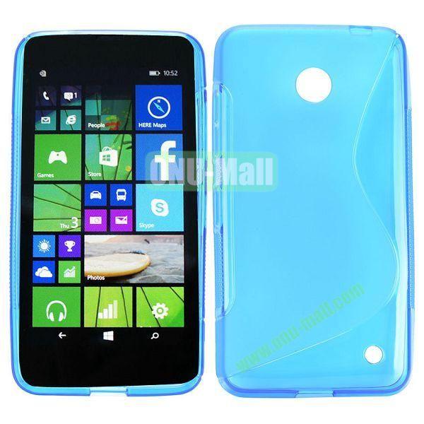 S Shape TPU Case for Nokia Lumia 630 (Light Blue)