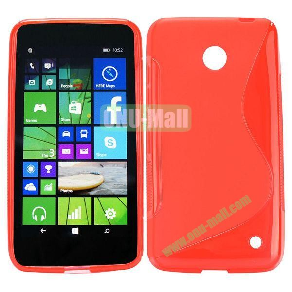 S Shape TPU Case for Nokia Lumia 630 (Red)