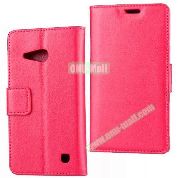 Litchi Texture Wallet Flip Leather Case for Nokia Lumia 730 (Red)