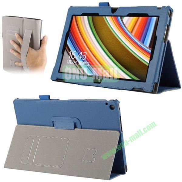 Crazy Horse Texture Leather Case for Nokia Lumia 2520 with Cards Slots and Holder Pen & Armband (Blue)