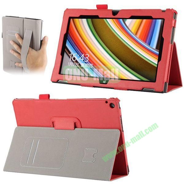 Crazy Horse Texture Leather Case for Nokia Lumia 2520 with Cards Slots and Holder Pen & Armband (Red)