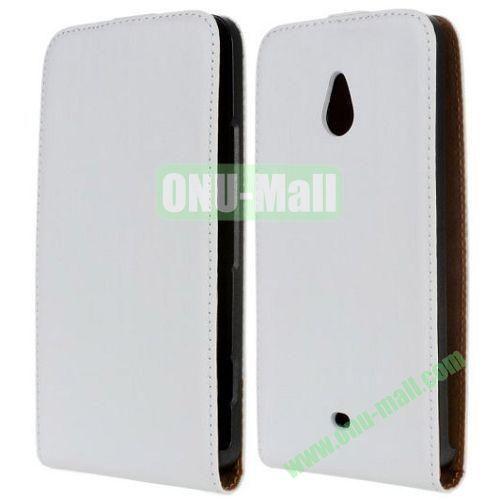 Vertical Flip Leather Case for Nokia Lumia 1320 (White)