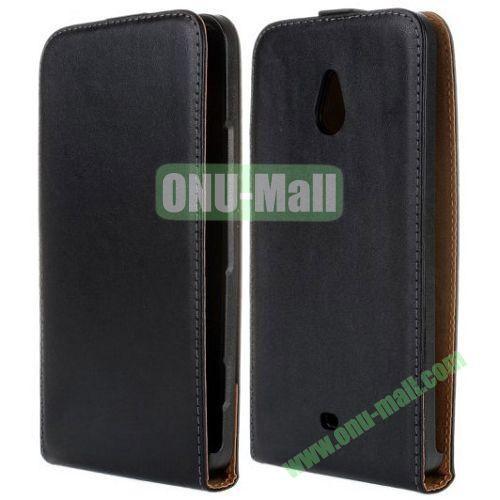 Vertical Flip Leather Case for Nokia Lumia 1320 (Black)