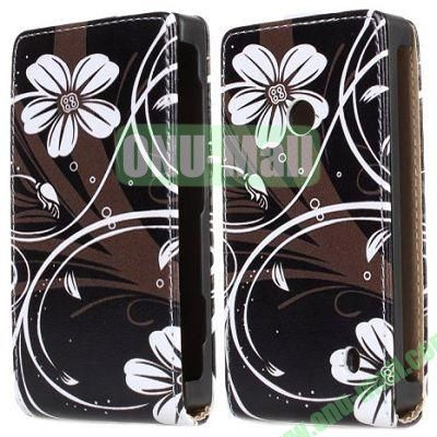 Flowers Pattern Vertical Flip Leather Case for Nokia Lumia 520