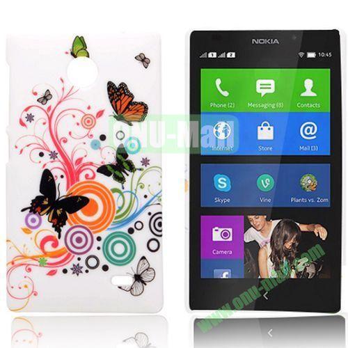Butterfly Swirls Pattern Hard Back Case for Nokia X  X+