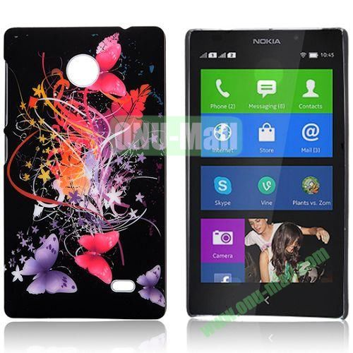 Butterfly and Silk Ribbon Pattern Hard Back Case for Nokia X  X+