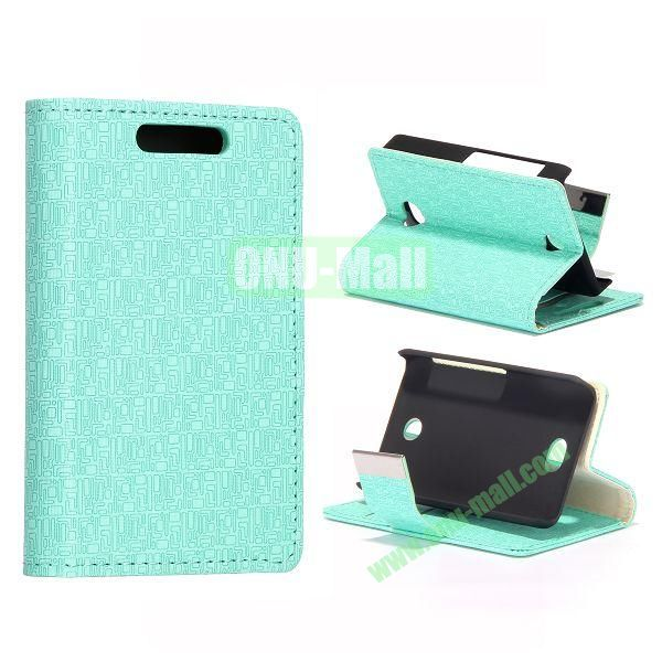 Maze Pattern Leather Case With Card Slots and Magnetic Button for NOKIA Asha 501 (Light Blue)