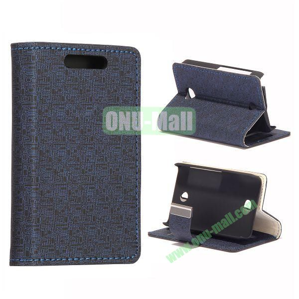 Maze Pattern Leather Case With Card Slots and Magnetic Button for NOKIA Asha 501 (Black)