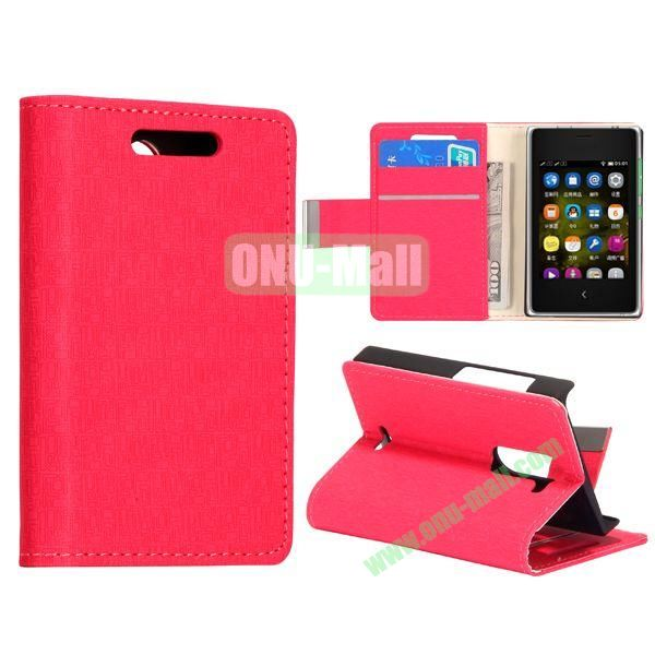 Maze Pattern Leather Case for NOKIA Asha 502 (Red)