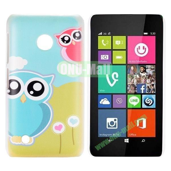 Cute Two Owls Pattern Hard Case for Nokia Lumia 530