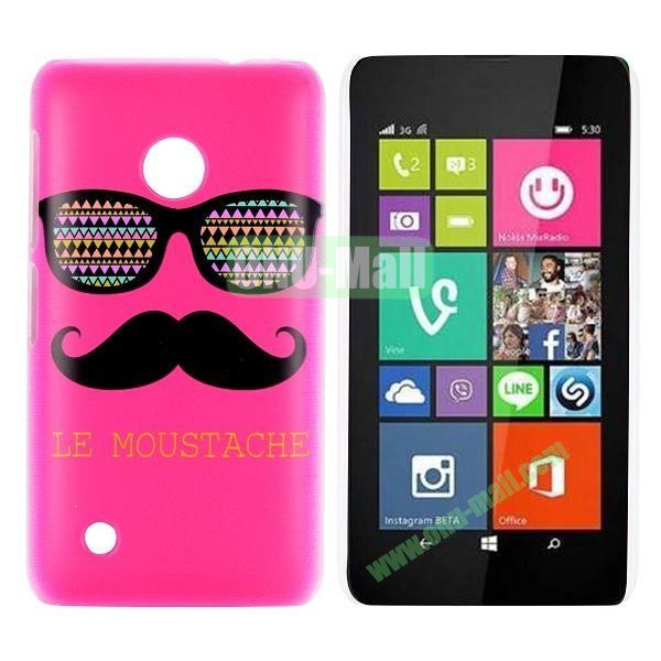 Rose Mustache & Glasses Design Pattern Hard Case for Nokia Lumia 530