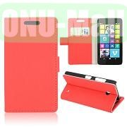 Gravel Pattern Wallet Leather Case for Nokia Lumia 630 (Red)