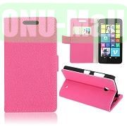 Gravel Pattern Wallet Leather Case for Nokia Lumia 630 (Pink)