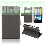 Gravel Pattern Wallet Leather Case for Nokia Lumia 630 (Black)